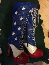 USA Flag Knee High Boot Lace Up in Conroe, Texas