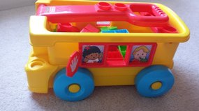 little people bus with building blocks in Naperville, Illinois
