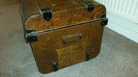 Antique / vintage metal travelling trunk in Lakenheath, UK