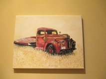 acrylic on Canvas Painting New vintage ford truck in The Woodlands, Texas