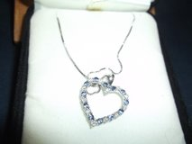 SAPPHIRE & DIAMOND HEART SHAPE NECKLACE in Alamogordo, New Mexico