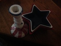 Patriotic Candlestick and Star Bowls 3 in Clarksville, Tennessee