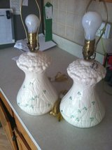 Belleek Daisy China Lamps Set of 2 in Joliet, Illinois