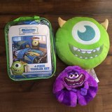 Monsters University Toddler Bedding set with extras in Fort Leonard Wood, Missouri