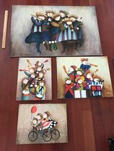 Original large clown paintings x4 in Camp Lejeune, North Carolina