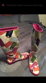Authentic a Coach rain boots size 8 womens in Belleville, Illinois