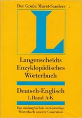"""4 volumes of: Langenscheidts encyclopedic dictionary of the English and German languages. """"The G... in Ramstein, Germany"""