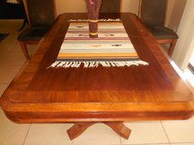 dining set, pedestal table, 6 upholstered wood chairs in Luke AFB, Arizona