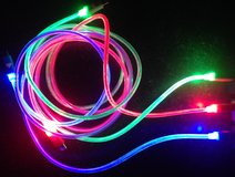 HUGE QUANITY--IPHONE--LED Multiple Changing Light Micro USB Data Charger Cable for iPHONES in Vacaville, California