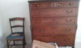 Tall dresser, dressing table w mirror, 2 matching chairs w embrodiary lap. in St George, Utah