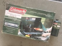 Coleman Camping stove in Camp Pendleton, California