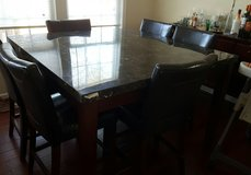 Marble table set in Columbia, South Carolina