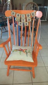Bride To Be chair with ribbons in Yucca Valley, California