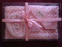 Hand-knit baby blanket/hat sets in Beaufort, South Carolina