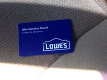 lowes card containing 392$ in Los Angeles, California