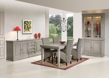 Household Package - Luxus #2 - Oak Dining Set witn matching TV Stand and Extra Large Sectional in Spangdahlem, Germany
