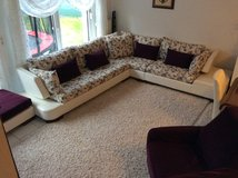 Couch Set with wing-chair  and pouffe&coffee table in Ramstein, Germany