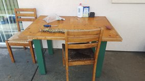 Outside table in Camp Pendleton, California