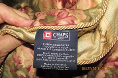 """Plush Designer Reversible Queen Comforter w/2 Pillow Shams - By """"Chaps"""" - REDUCED !!! in Kingwood, Texas"""