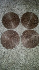 Brown / Wicker / 4 Piece Plate Charger Set in Fort Campbell, Kentucky