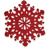 """NEW! """"RED SNOWFLAKE"""" Thick Felt Placemat in Bartlett, Illinois"""