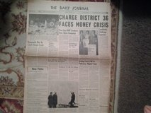 "Vintage ""The Daily Journal"" Newspaper From DuPage County Dated Tuesday, March 31, 1964 in Lockport, Illinois"