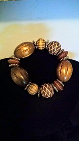 Wood bead stretch bracelet in Greenville, North Carolina