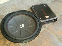 Kicker Comp R 12 and Amp Combo in The Woodlands, Texas