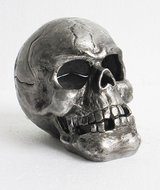 "NEW! Halloween ""Raven's Head Manor"" Skull LED Tea Light Holder by Celebrate It in Bartlett, Illinois"