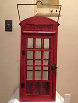 Red Telephone Booth Candle Holder, Lantern Decor in Aurora, Illinois
