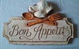 Bon Appetit Plaque by Pisano in Conroe, Texas
