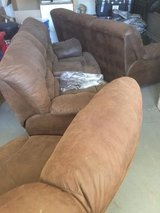 Cloth sectional brown couch in Hemet, California