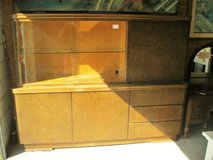 Mid-Century Modern Wood & Glass Cabinet (2145-1) in Camp Lejeune, North Carolina