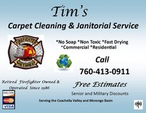 Carpet Cleaning & Janitorial Service in Yucca Valley, California