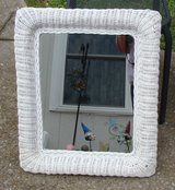 REDUCED White Wicker Mirror in Fort Campbell, Kentucky