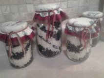 Kitchen Decor  Ball Mason Jars Filled w/Black Beans & Rice NEW! Assemble by Crafter in Aurora, Illinois