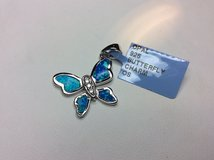 .925 SILVER OPAL BUTTERFLY CHARM / PENDANT in Camp Pendleton, California