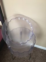 Clear Plastic Bedside Table in Fort Rucker, Alabama