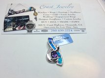 .925 SILVER OPAL AMETHYST MUSIC NOTE CHARM in Camp Pendleton, California