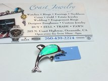 .925 STERLING SILVER OPAL DOLPHIN PENDANT in Camp Pendleton, California