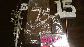 lot of 15th birthday decorations in Houston, Texas