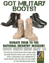 Boots in Fort Benning, Georgia