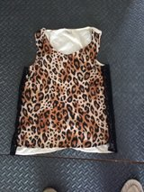 Cute Womans Chetah Silk Tank Top size S in Oswego, Illinois