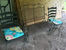 Rod iron patio set with motion in Baytown, Texas
