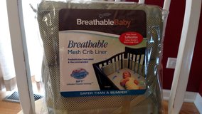 Breathable Mesh Crib Liner Green in Chicago, Illinois