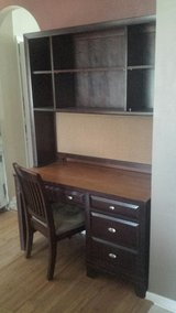 Desk and shelf with Pin on Board in Houston, Texas