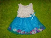 3T Blue Flower Petal Dress in Alamogordo, New Mexico