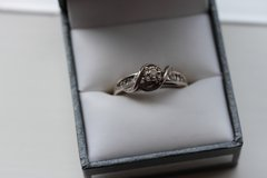 Sterling Silver & Diamond Cathedral Twisted Accent Ring in Okinawa, Japan