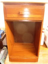 Night Stand, Solid Hardwood, newly refinished, 15w x13d x 25t in Ramstein, Germany