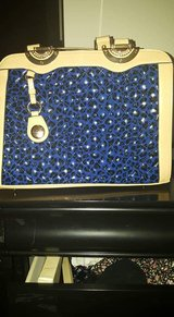 Navy blue and beige Handbag in Lackland AFB, Texas